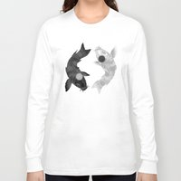 aang Long Sleeve T-shirts featuring Yin Yang Koi by chardeekellys