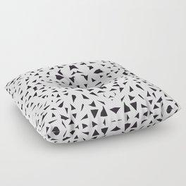 black fragments Floor Pillow
