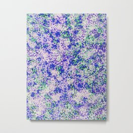 fluffy dots on blue with mint Metal Print