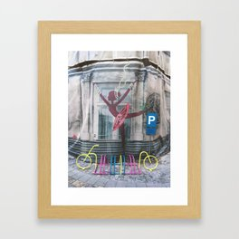 URBAN BALLERINA Framed Art Print