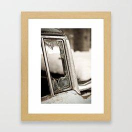 Broken Door Framed Art Print