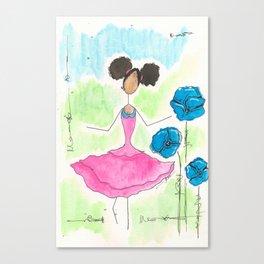 Tia Skipping So Happy Canvas Print