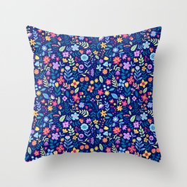 """Cute Floral pattern in the small flower. """"Ditsy print"""". Vintage. Throw Pillow"""