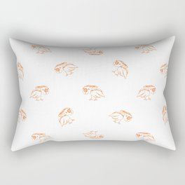 Birds Sketch Pattern Rectangular Pillow