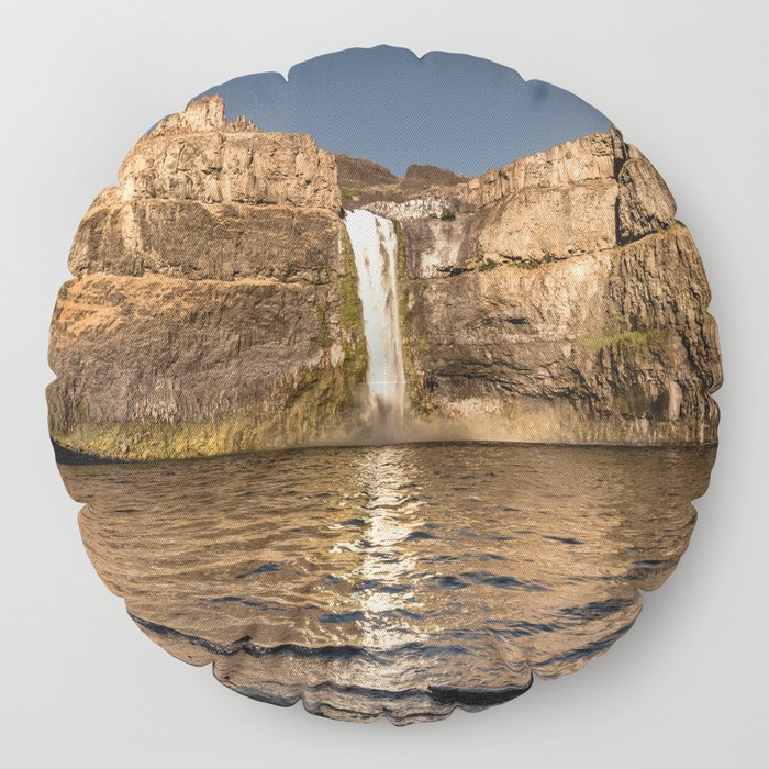 Desert Waterfall - Summer In Palouse Floor Pillow