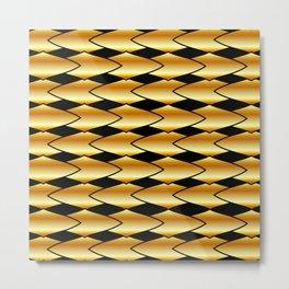 Luxury golden texture Metal Print