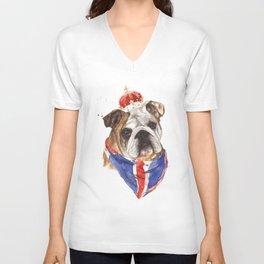 British Bulldog Unisex V-Neck