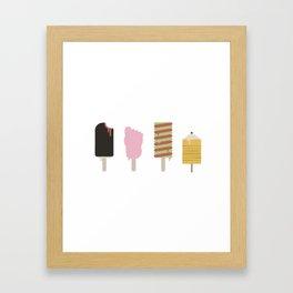 Retro Ice-Creams Framed Art Print