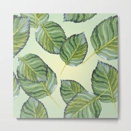 Apple Leaf Pattern Metal Print