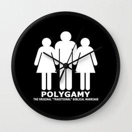 "Polygamy - The Original ""Traditional"" Biblical Marriage Wall Clock"