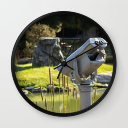 Pondside Panoramic Visor Wall Clock