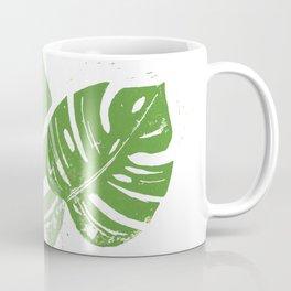 Linocut Leaf Coffee Mug