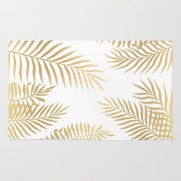 Gold palm leaves Rug