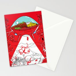 The Ufo Steak Stationery Cards