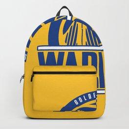 Warriors vintage basketball logo Backpack