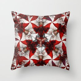 Angels & Beasts Throw Pillow