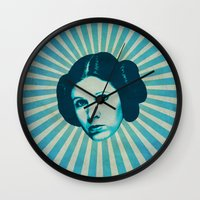 leia Wall Clocks featuring Leia by Durro