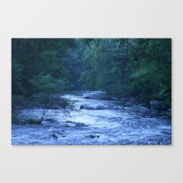 River in Blue Canvas Print