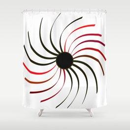 red fan Shower Curtain