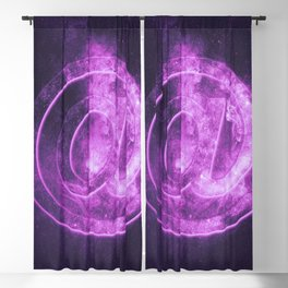 E-mail symbol. e-mail sign. Abstract night sky background Blackout Curtain