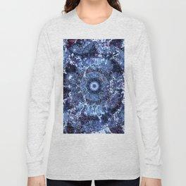 Iris Mandala Blue Long Sleeve T-shirt