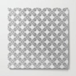 Geometric Tiles Grey Metal Print
