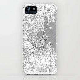 Portland Maine Map Line iPhone Case