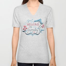 Welcome to the Family Unisex V-Neck
