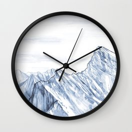Mountain Summit Wall Clock