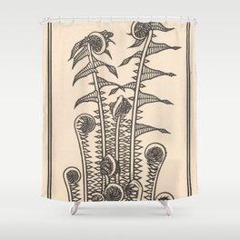 Nouveau Fiddleheads Shower Curtain
