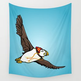 Puffin Wearing A Hat Wall Tapestry