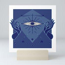 Meditation Yoga Buddhism Lotus Eye Gift Mini Art Print