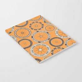 bike wheels amber Notebook