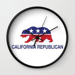 California Political Republican Bear  Wall Clock