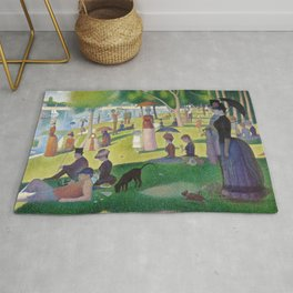 "Georges Seurat "" A Sunday Afternoon on the Island of La Grande Jatte "" Rug"