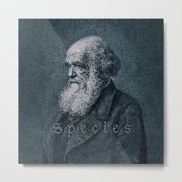 Species / Vintage portrait of Charles Darwin Metal Print