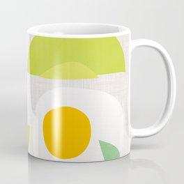 Minimalist Avocado and Eggs Coffee Mug