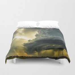 Supercell - Massive Storm Over the Great Plains Duvet Cover