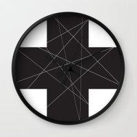 cross Wall Clocks featuring Cross by hyun yu