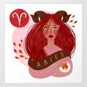 Aries Zodiac Illustration by vetvy