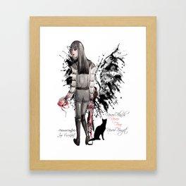 Mia Corvere, Nevernight Framed Art Print