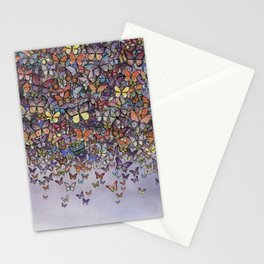 butterfly cascade Stationery Cards