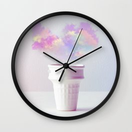 Forecast in a Cup Wall Clock