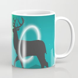 Magic Deer of the North Selas Aurora Borealis Coffee Mug