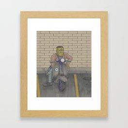 Frankenstein Scooter Framed Art Print