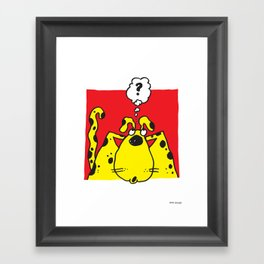 Profound Thoughts of a Yellow Dog Framed Art Print