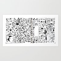 a bunch of raccoons Art Print