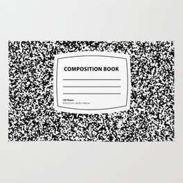 Composition Book Rug
