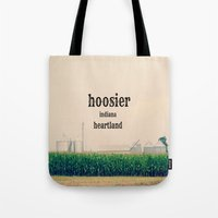 indiana Tote Bags featuring Indiana by KimberosePhotography