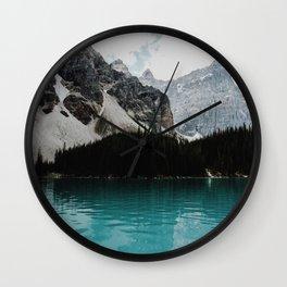 Lake Moraine, Banff National Park Wall Clock